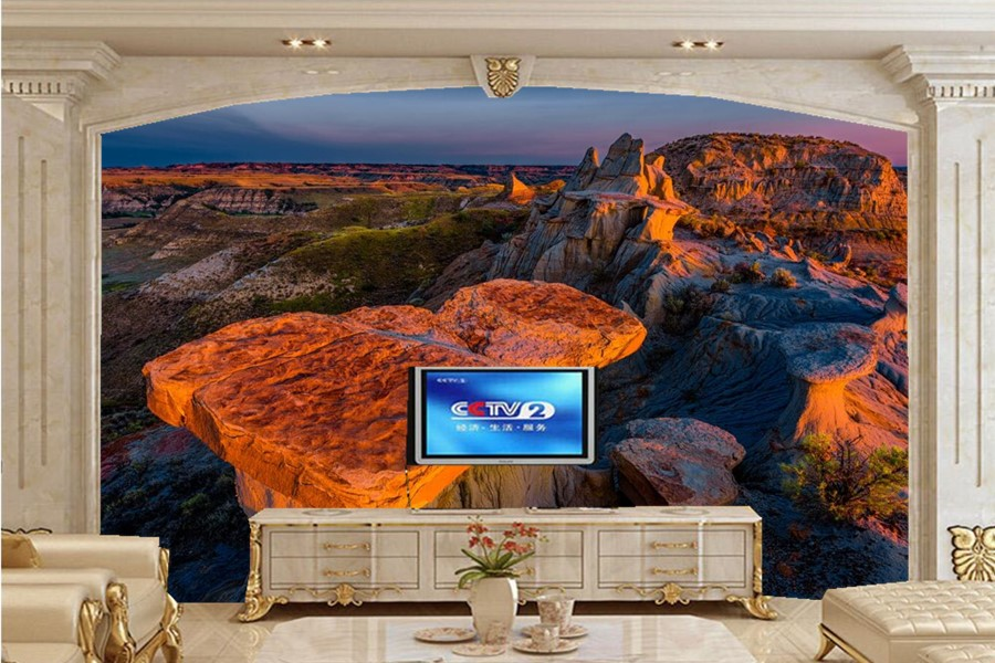 Aliexpress Com Buy Large Custom Mural Wallpapers Living: Custom Large Murals,USA Parks Mountains Scenery Nature