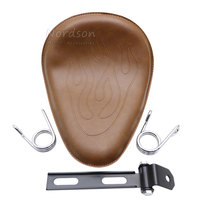 Brown Clip Spring Mounting Bracket Motorcycle Solo Seat For Harley Sportster 883 1200