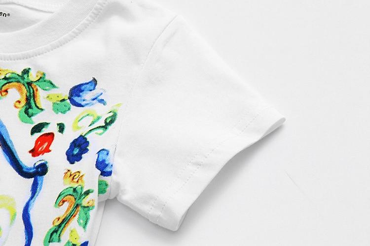 Sommer T-Shirt Baby Mädchen Kleidung Mode Kinder T-Shirts für - Kinderkleidung - Foto 4