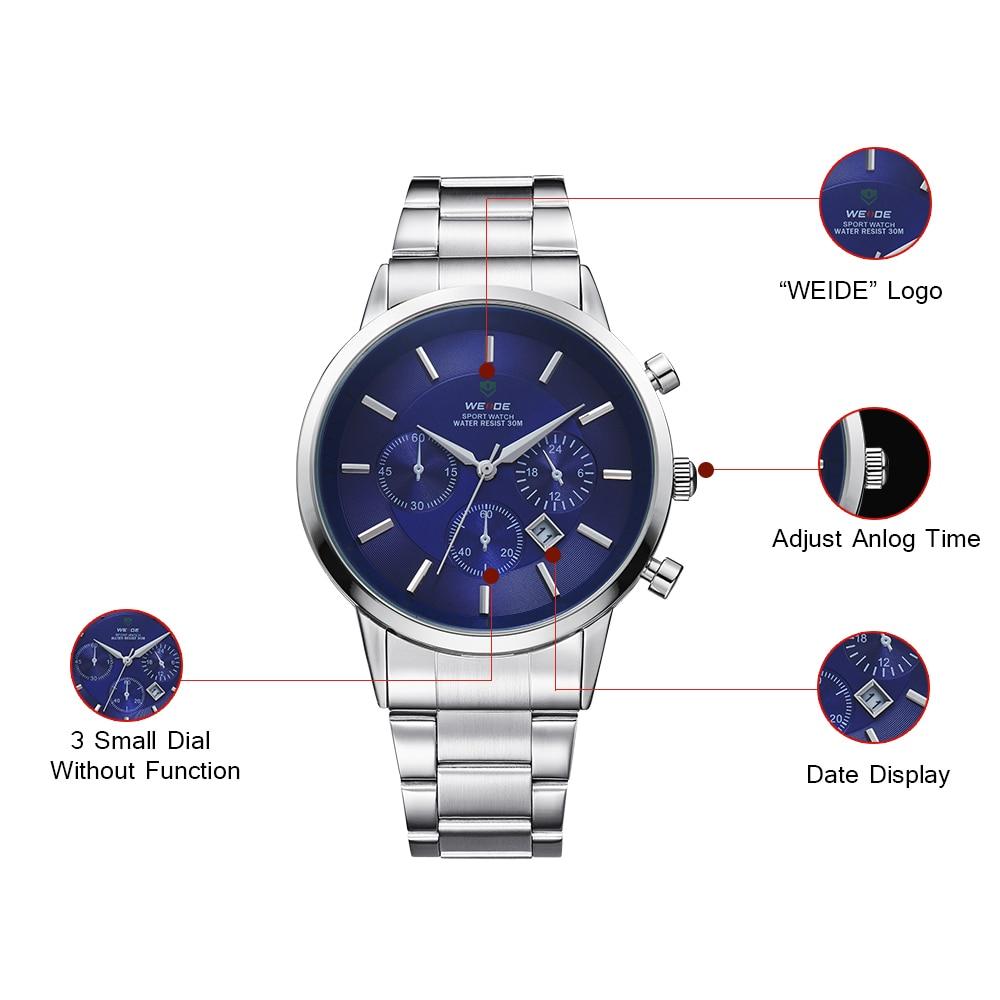 WEIDE 신사 값 비싼 쿼츠 시계 Luxury Brand Sport Watch - 남성 시계 - 사진 3