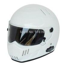 Карден долгий срок службы аккумулятора автомобильный стерео Bluetooth шлем мотоциклетный шлем Стеклопластик шлем ATV-6 Белый