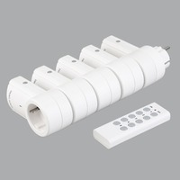 5 Wireless Remote Control Switches Socket Power Outlets Electrical Plugs Adaptors with Remote Control EU Plug White