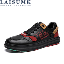 LAISUMK 2019 New Men Casual Shoes Lace Up Design Summer Autumn Walking Comfort Lightweight Flats Fashion Sneakers