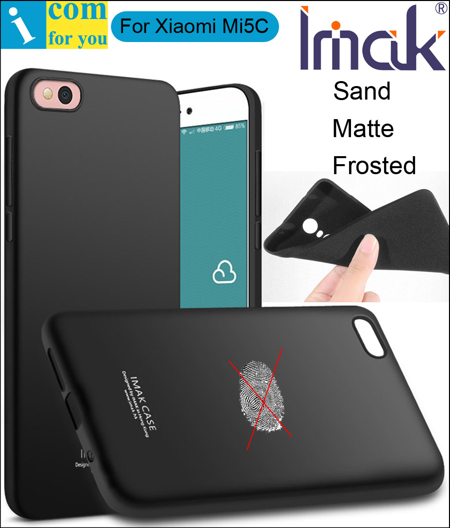 aliexpress com buy imak frosted sand case cover for xiaomi mi5c mi 5c tpu silicone matte skin protector anti fingerprint soft tempered glass from
