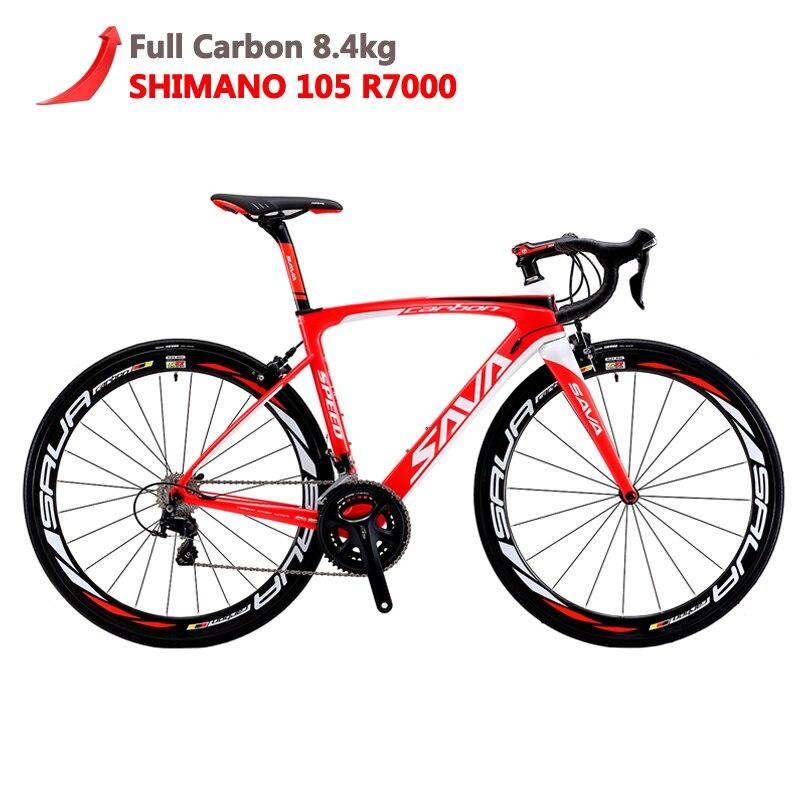 SAVA Carbone Vélo De Route 700C vélo de Route Carbone HERD6.0 Carbone vélo Complet De Bicyclette De Carbone avec Shimano 105 R7000 Racing Route vélo bici