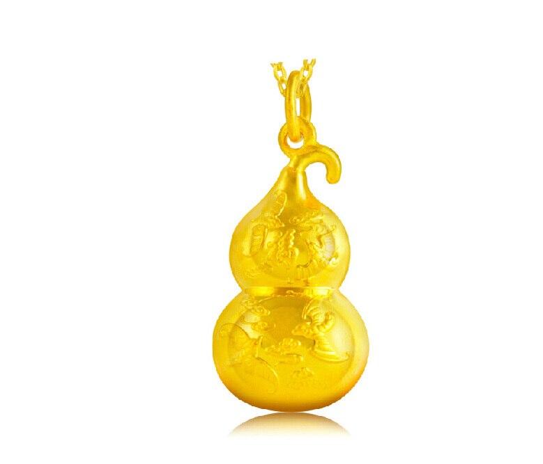 Encanto 24 K colgante de oro amarillo/especial de calabaza con ...