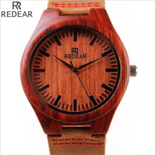 REDEAR1412, antique wood materials manufacturing men's watch, quartz watch, leisure leather strap watch, watch of wrist of 2017