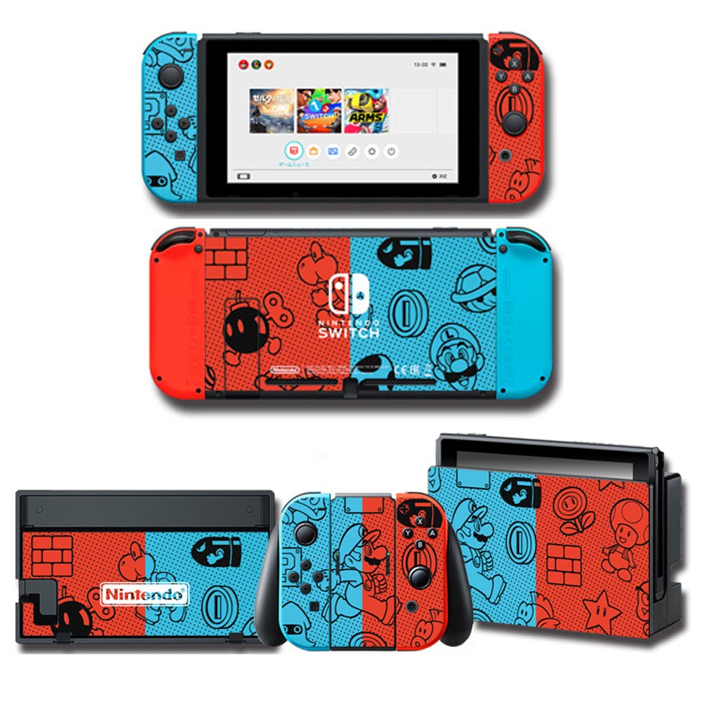 Theme Games Skin Protector Sticker For Nintendo Switch NS Console + Controller + Stand Holder Protective Film NS Skin
