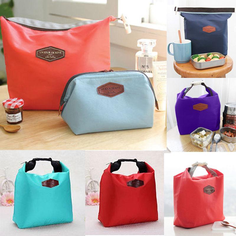 2017 Mode Tragbare Insulated Nylon Lunchpaket Thermischen Picknick Mittagessen Taschen Für Frauen Kinder Männer Kühler Lunchbox Tasche Tote Angenehme SüßE