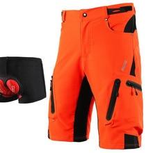 ARSUXEO, шорты для горного велосипеда, мужские, DH MTB, шорты для спуска, свободный крой, опционально, 3D, мягкое нижнее белье