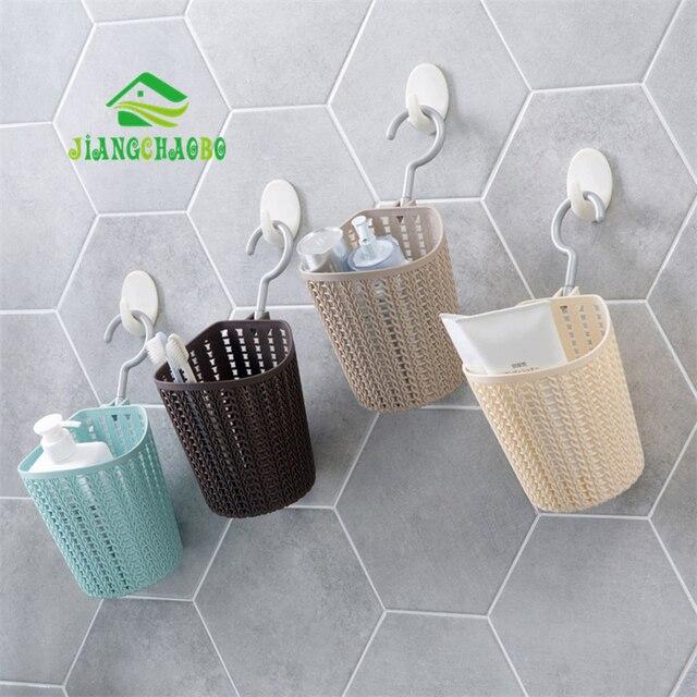 Jiangchaobo Plastic Drain Hanging Basket Bathroom Wall Storage Bath Small