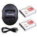 Probty 2 PCS NPBG1 NP-BG1 NP BG1 bateria Camera + carregador portátil Dual USB para SONY HX10 W30 DSC-W210 W100 W110 W120 H10 0036