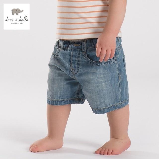DB1930-B дэйв белла летние мальчики джинсы шорты детские брюки toddle одежда мальчики джинсы брюки дети джинсы