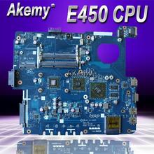 Akemy X53B материнская плата для ноутбука ASUS X53B K53B X53BY X53BR K53BR K53BE Тесты Оригинал материнская плата PBL60 LA-7322P REV: 1A E450 Процессор