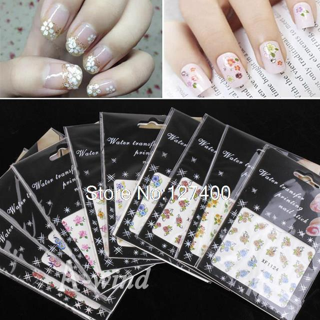 New 10 Sheets 3D Nail Art Sticker decorative water stickers decoration nails art design Temporary Tattoos Watermark Stickers