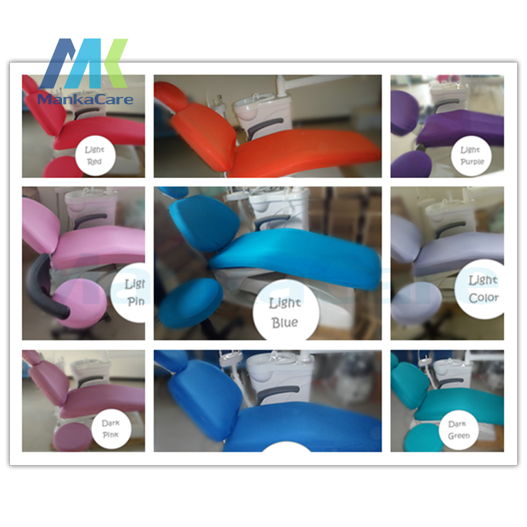 4 pièces/ensemble Instruments dentaires matériaux chaise dentaire tissu couverture élastique chaise couvre pour unité dentaire uniforme taille quatre pièces/ensemble