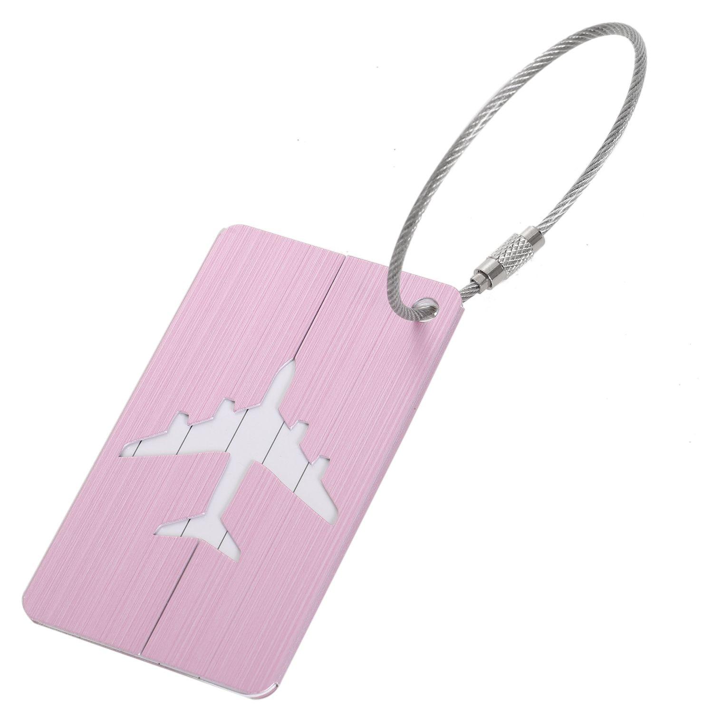 FGGS New Aluminium Travel Luggage Baggage Tag Suitcase Identity Address Name Labels