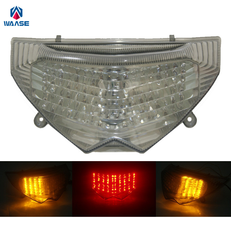 waase For Suzuki GSX1250FA 2011 2012 E Mark Rear Tail Light Brake Turn Signals Integrated LED