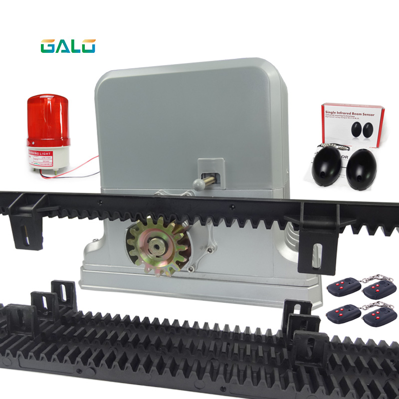 Heavy duty 1800kg electrical automatic rolling/sliding gate opener motor 5m or 6m racks 1 sensor 1 lamp(GSM keypad optional) heavy duty 1800kg electric sliding gate motors rolling automatic gate opener engine4 remote control and racks 1photocell 1 lamp