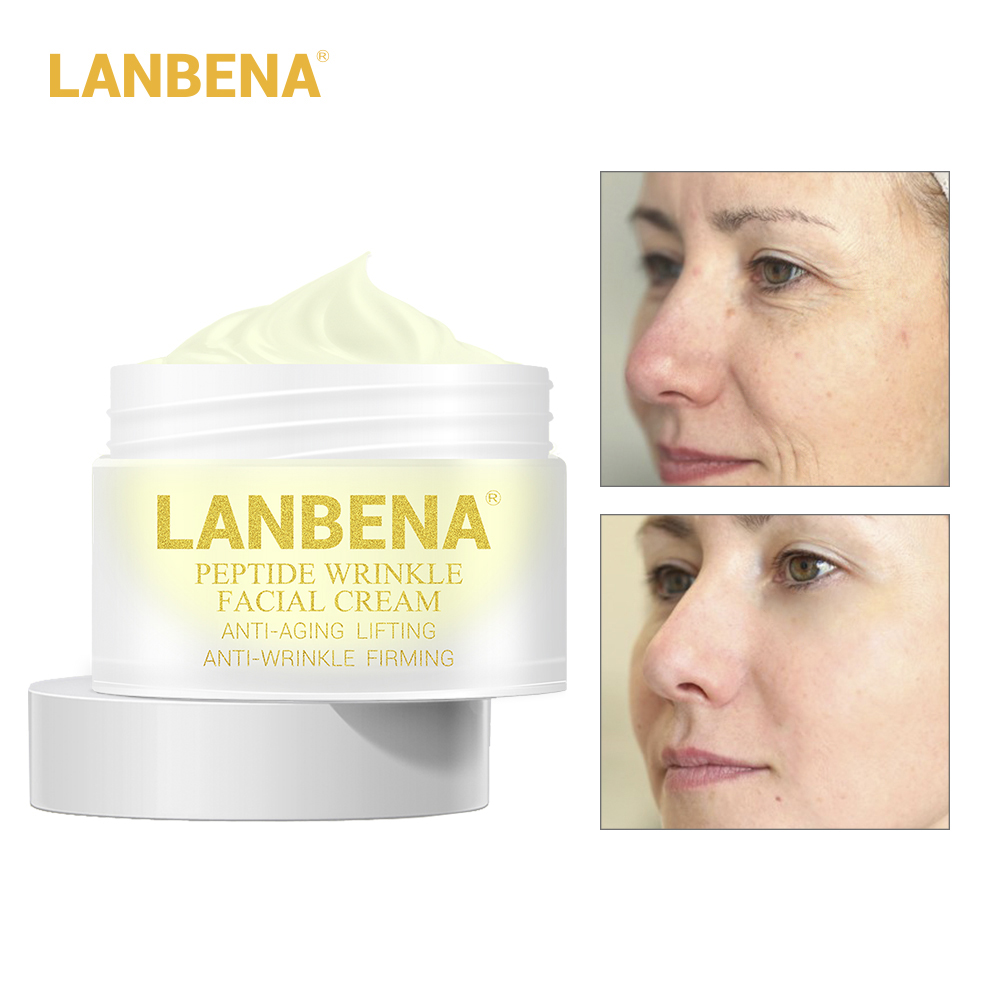 LANBENA Peptide Anti Wrinkle Facial Cream Anti Aging Skin Whitening Lifting Firming Acne Treatment Hyaluronic Acid Snail Cream 6pcs lot caicui hyaluronic acid firming moist face cream whitening skincare acne treatment blackhead anti wrinkle beauty ageless