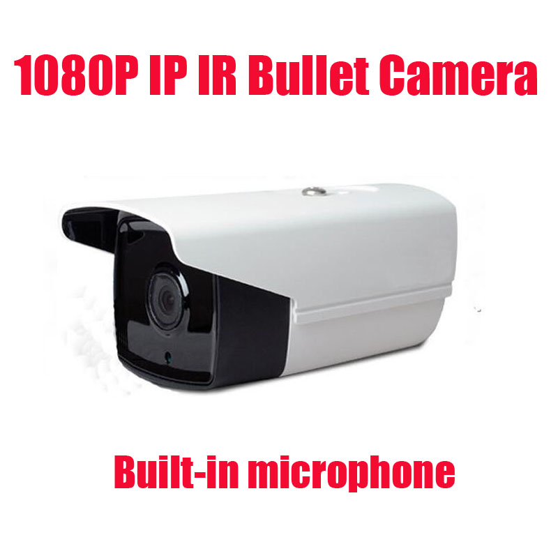 Free shipping 2MP 1080P IP Camera Outdoor indoor Audio 2MP Camera IP With External Microphone Pickup Outdoor Bullet CCTV wholesale 8pcs lot full hd 1080p ip camera audio 2mp camera ip with external microphone pickup indoor ir dome cctv cam