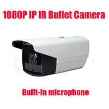 Free shipping 2MP 1080P IP Camera Outdoor indoor Audio 2MP Camera IP With External Microphone Pickup Outdoor Bullet CCTV