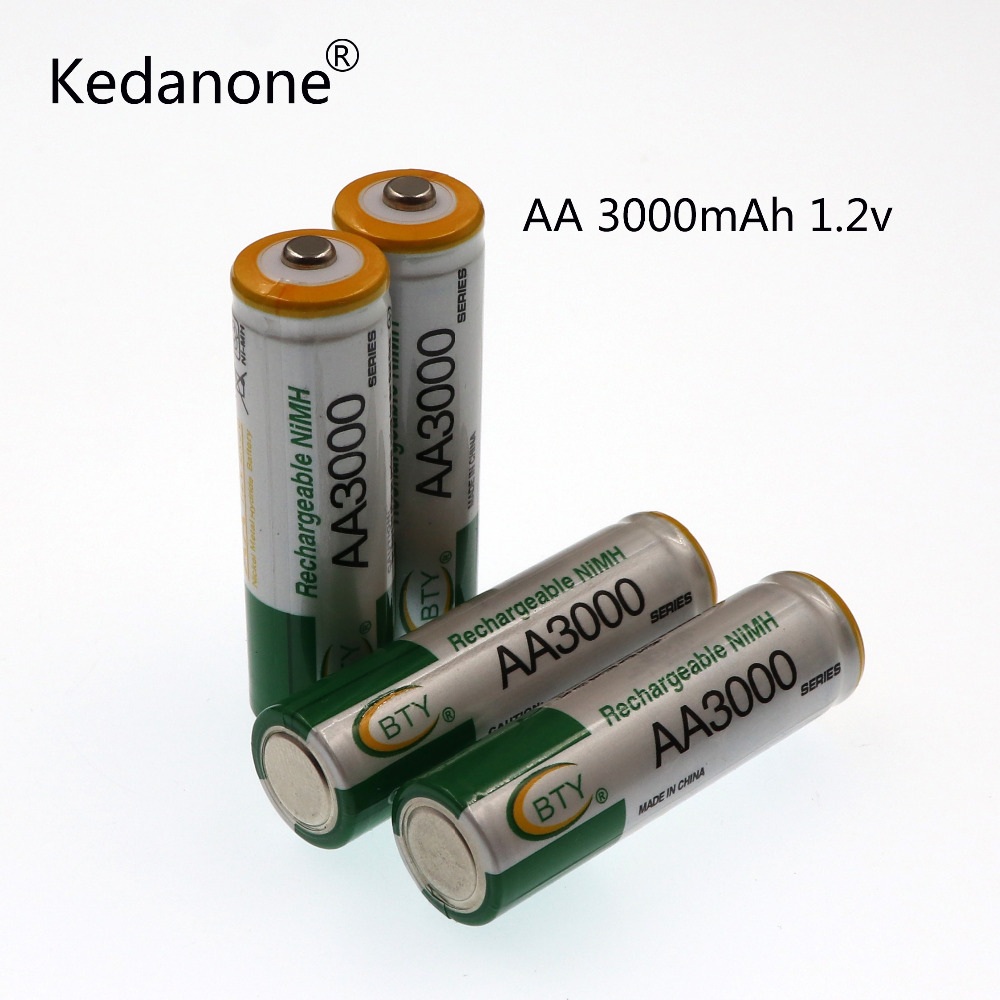 2018 lot 1.2V 3000mAh NI MH AA Pre-Charged Rechargeable Batteries Ni-MH Rechargeable aa Battery For Toys Camera Microphone стоимость