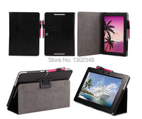 High Quality Ultra Slim Litchi Grain Folio Stand Leather Skin Protector Case For Asus Memo Pad