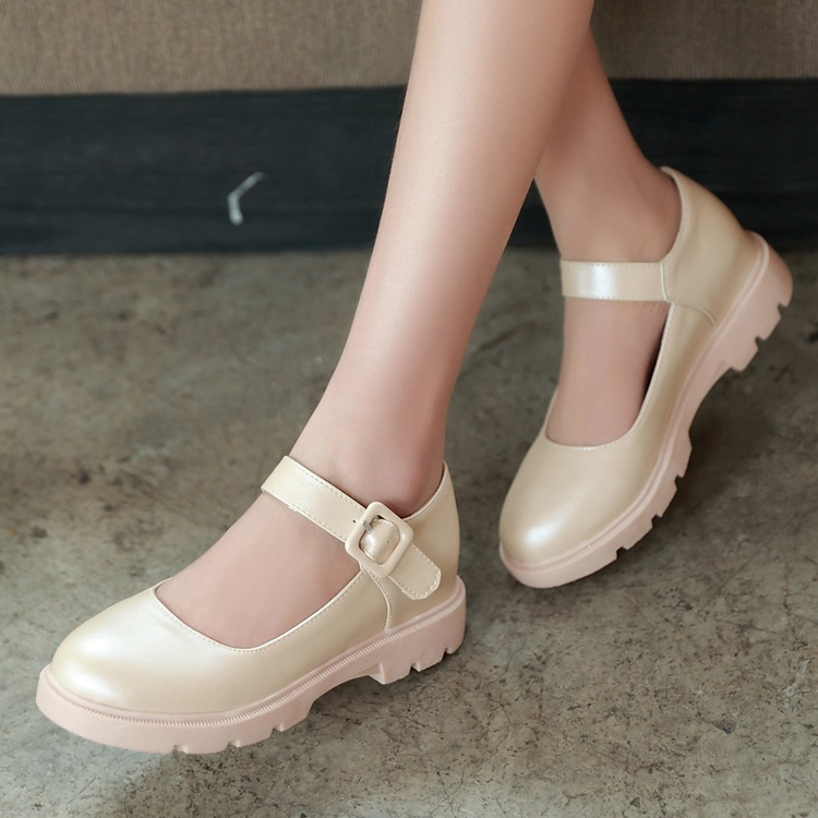 18ab76a2b9f74 2015 Women Mary Janes Retro Platform Creeper Dress Cute Sweet ...
