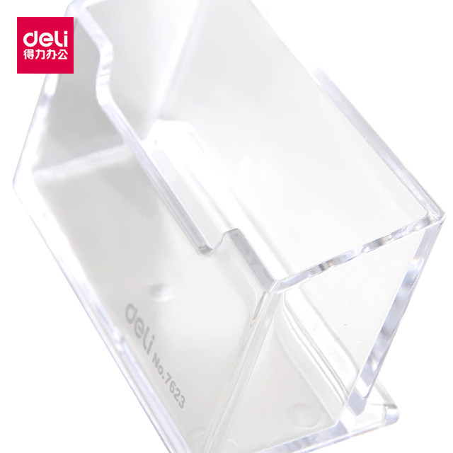 Online shop deli 7623 large capacity card seat plastic business card deli 7623 large capacity card seat plastic business card holders desk plastic id holder business card display office accessories colourmoves