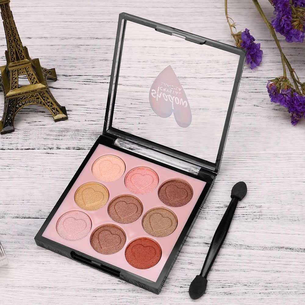 9 Beleza cor Vitrificada Glitter Eyeshadow palette Nu Pérola Brilho Olho Sombra Em Pó Paleta Fosco Sombra Make Up Palette