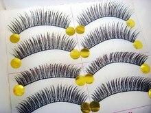Free shipping  hot sale 10Pairs Hand made fashion mix  eye lashes  False Eyelashes Natural Long Thick  Beauty Health Makeup