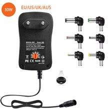 30W Universal AC Adapter, 3V 4,5 V 5V 6V 7,5 V 9V 12V Multi Spannung Adapter Schalt Netzteil mit 6 Wählbar Tipps Stecker