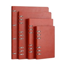 A6/A5/B5/A4 Spiral Notebook 6 Rings Leather Hard Cover Loose Leaf Personal Travel Diary Journal Business Planner Organizer