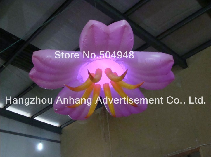 все цены на Pink Inflatable Ceiling Flower with Lighted
