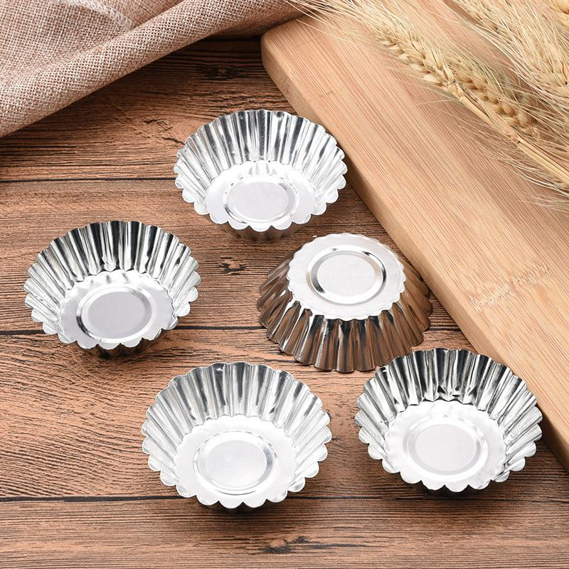20 pcs of egg tart mold aluminum chrysanthemum mould kitchen accessories thick egg tart patisserie cake molds for baking tool