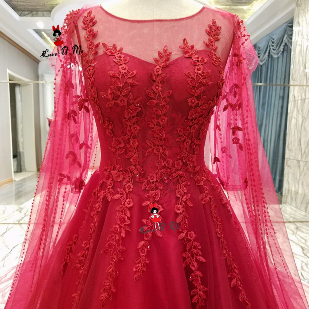 Cheap 3 4 Sleeve Wedding Dresses: China Cheap Wedding Dresses Red Lace Bride Dress 2019 3/4
