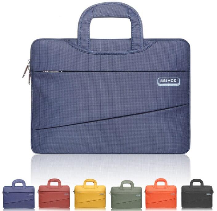 11 12 13 13.3 14 15 15.6 Inch Waterproof Nylon Laptop Plaid Notebook Tablet Bag Bags Case Sleeve for Men Women Durable