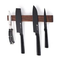 Solid wood magnet hook tool holder wooden knife holder hanging tool holder magnetic wall shelf knife holder hole-free rack