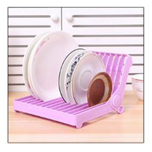 1 Pcs Multi-function Folding Bowl Drain Rack Plastic Tray Storage Kitchen Cutlery