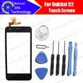 100% Original para Oukitel C2 mobile phone touch screen Digitador Assembléia painel de vidro de Substituição + Ferramentas