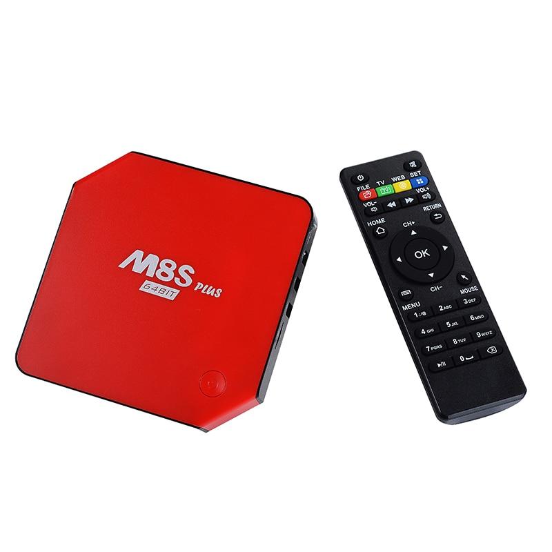 ФОТО Newest M8S PLUS 2G 16G Amlogic S905 Quad Core Android 5.1 TV Box Wifi HDMI 2.0A 4K*2K Kodi Marshmallow Media Player Set top box