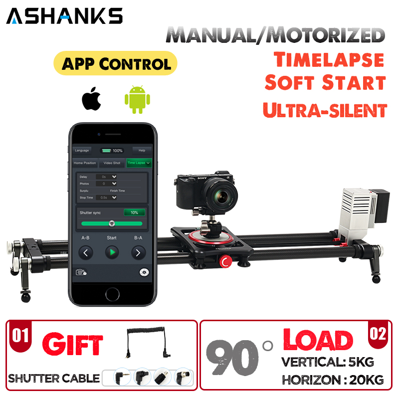 Bluetooth Motorized Slider Video Timelapse APP Wireless Carbon Electric Delay Track Rail Slide for Photography DSLR Camera|Rail Systems| |  - title=