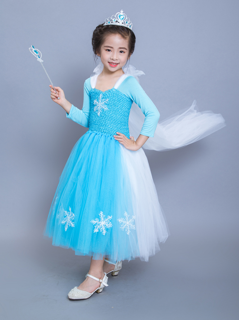 2017 Baby Kids Girl party Casual Christmas Halloween Cosplay Costume Lace Tutu Dress Princess Clothes Costum fantasia vestidos newest girls princess tutu dress cosplay elsa dress christmas halloween costume for kids performance birthday dresses vestidos