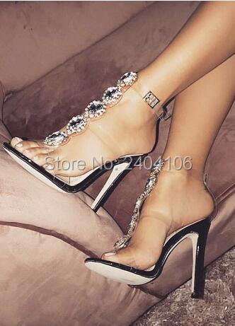 2018 Talons Sandales Cristal Sandalias Diamant De Mujer Pic Shooegle as D'été As Pic Chaussures Sexy Luxe Gladiateur Transparente Mariée Hauts E6vCxOwqC