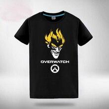 Игры Аниме ВЛ Гэндзи Жнец Reinardt Косплей футболка Лето Герой Топ футболка на складе бесплатная доставка