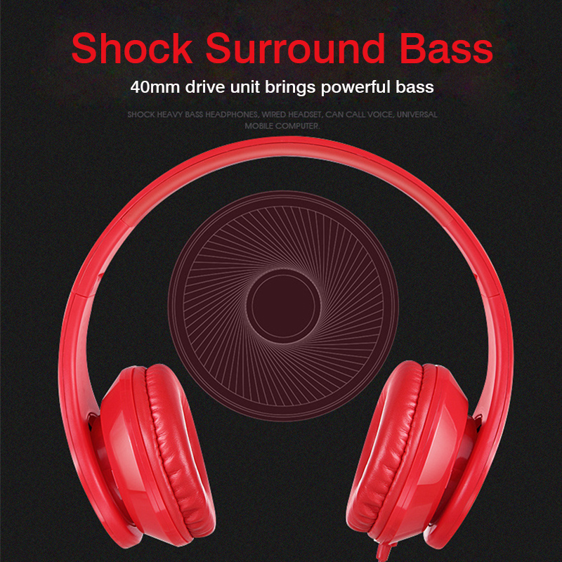 Headphones Wired headphone with microphone headphone for computer pc games None Wireless Bass Noise canceling stereo