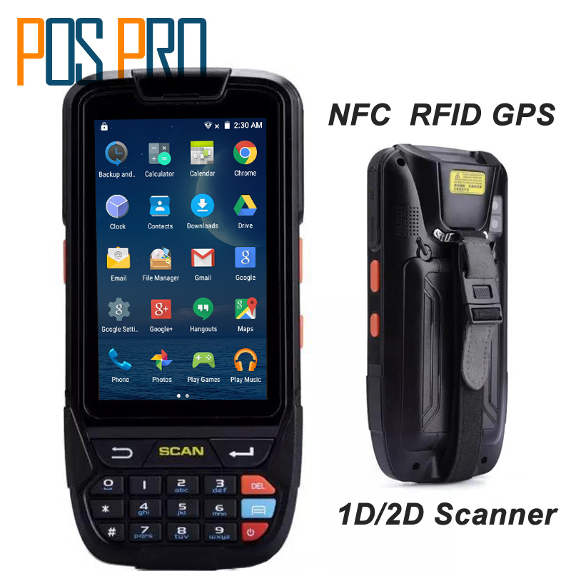 PDA 2D Handheld Terminal Support Wifi Bluetooth 4g GPS Camera Mini Barcode Scanner For Android Tablet Pc Keyboard NFC HF LF RFID 3g gprs wifi gps quad core laser barcode scanner bluetooth 4 0 inch handheld android urovo i6200s ultra rugged big screen pda
