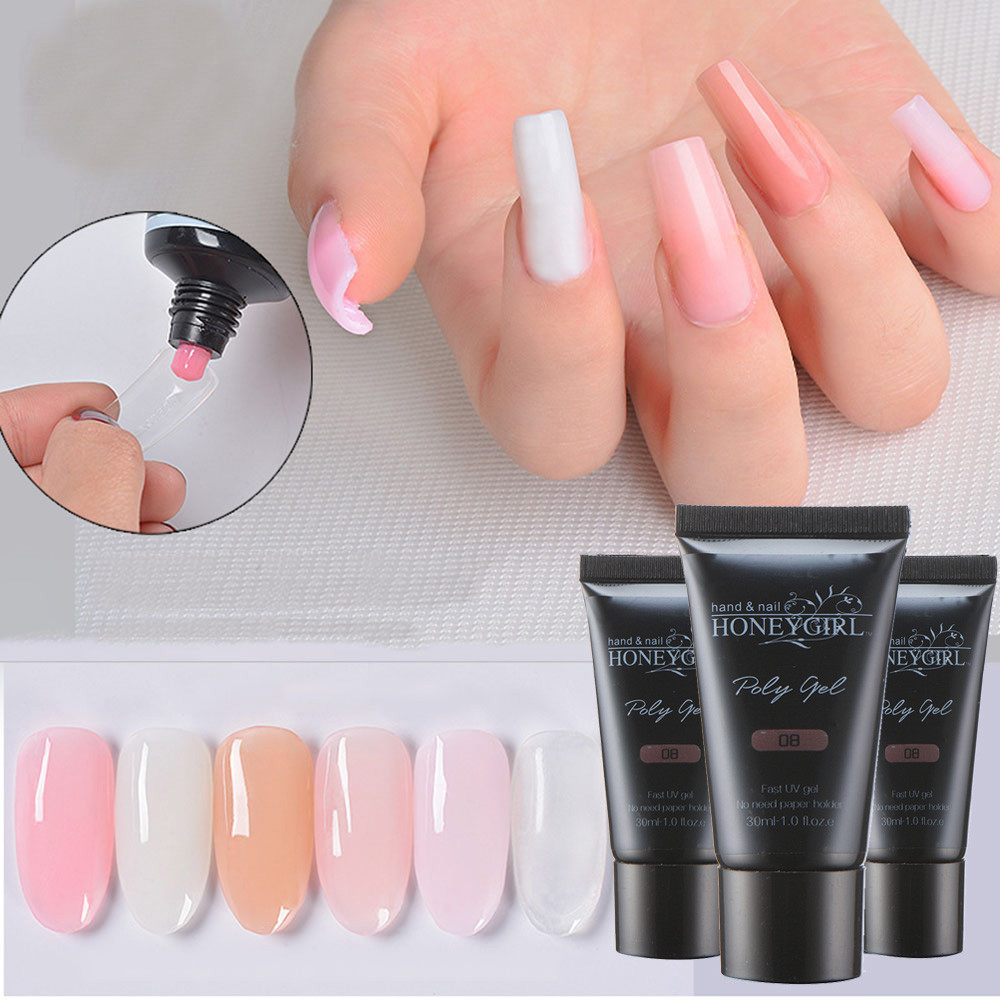 2018 New 30ml Bottle Nail Gel Tips Extension Camouflage Builder Gel Lack Glue Nail Extension In