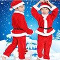 2016 Nuevo Bebé de la Navidad Ropa de Papá Noel Traje de Bebe Marca Ropa Set Tops + pant 2 unids Muchachos Navidad traje de Ropa de Los Cabritos